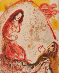 Rachel steals her Fathers Household Gods<br />