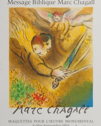lithography made by Charles Sorlier, with original signature by Marc Chagall | exhibition poster Musee National, Nice 1974 | 52 x 43 cm | Foto © Andraschek-Holzer<br />